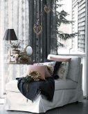 Новогодняя декорация интерьера гостиной