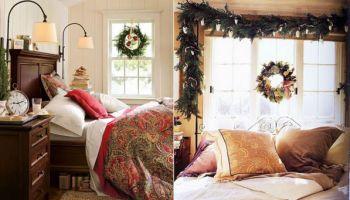 Оформляем интерье спальни к Новому Году
