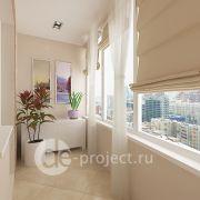 Проект отделки балкона