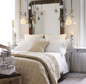 Декор интерьера спальни к Новому Году